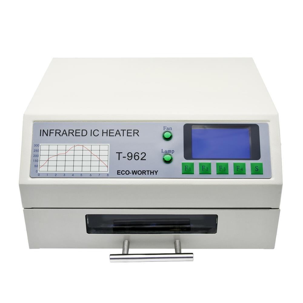 DC HOUSE 220V T-962 Reflow Oven Infrared IC Heater Soldering Station 800W 180 X 235mm Desktop For BGA SMD SMT Rework