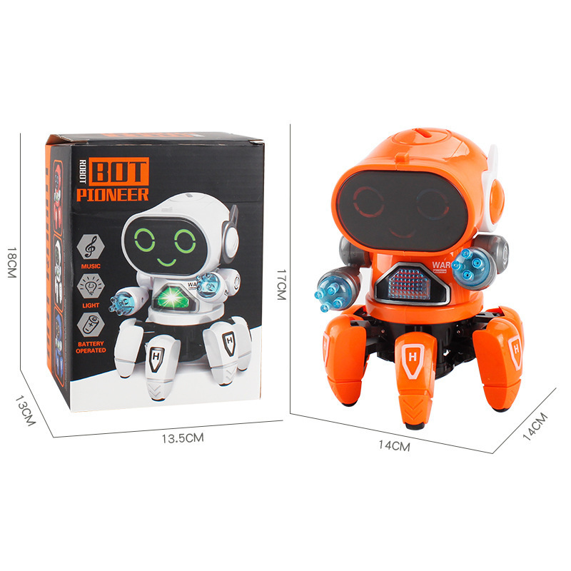 Mini RC Intelligent Robotic Toys Made With Plastic And Electronic Components Material 4