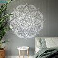 Винтажная мандала, цветок, наклейка на стену, украшение для дома, гостиная, офис, наклейки, искусство, виниловые сферы, постер для йоги ручной...
