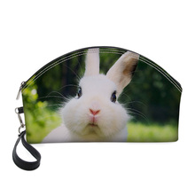 WHEREISART Cute Rabbit 3D Printing Pencil Cosmetic Bags Orga