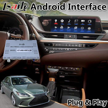 Lsailt Android Multimedia Video Interface for Lexus ES300h ES350 ES 2018-2020 Touchpad Model GPS Navigation 10.25 Inch screen image