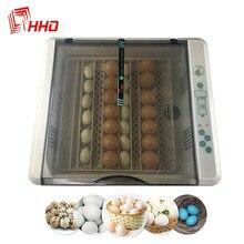 Máquina de incubação de alta capacidade do controle de temperatura da capacidade para aves domésticas incubadora automática completa do ovo da venda quente que gira 36-120 ovos