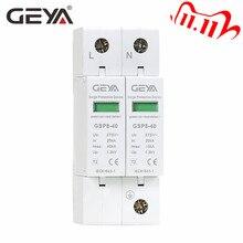 משלוח חינם GEYA GSP8 2 מוט מייצב מתח 220V מסילת Din SPD AC275V AC385V 400V 440V 40KA SPD זינוק הבית