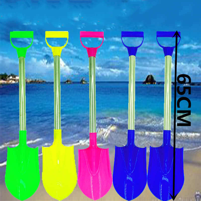 Espátula de playa gruesa de gran tamaño de acero inoxidable para dragar espátula de playa con pala de plástico de nieve juguete de arena gran oferta