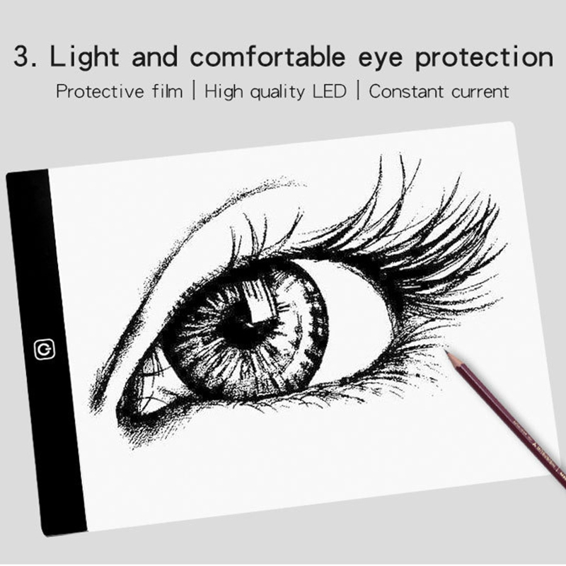 A4 LED Digital image Pad Drawing Tablet USB LED Light Copy Board Electronic Art Graphic Writing Painting Table