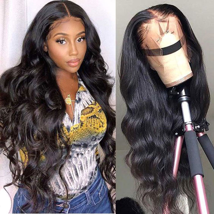 30 инч объёмная волна Синтетические волосы на кружеве человеческих волос парики 250% плотность бразильские 13x6 HD Синтетические волосы на круже...