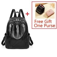 Leather Women School Backpack High Quality Soft Leather Book Student Bags Women Backpacks Hot Sale Leather Backpacks