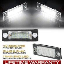 2 pçs led número de licença placa luz lâmpadas para vw transporter t5 t6 passat b6 3c b5.5 caddy 3 golf 4 jetta 5 syncro 5 touran
