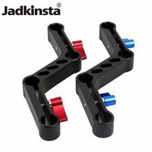 Jadkinsta nova ajustável alavancas em forma de z offset raiser braçadeira suporte de montagem da liga de alumínio para 15mm hastes no ombro dslr rig