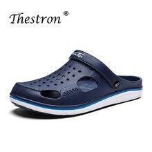 Men Sandals Summer Beach Shoes Mens Casual Breathable Lighweight Outdoor For Man Black Blue Garden