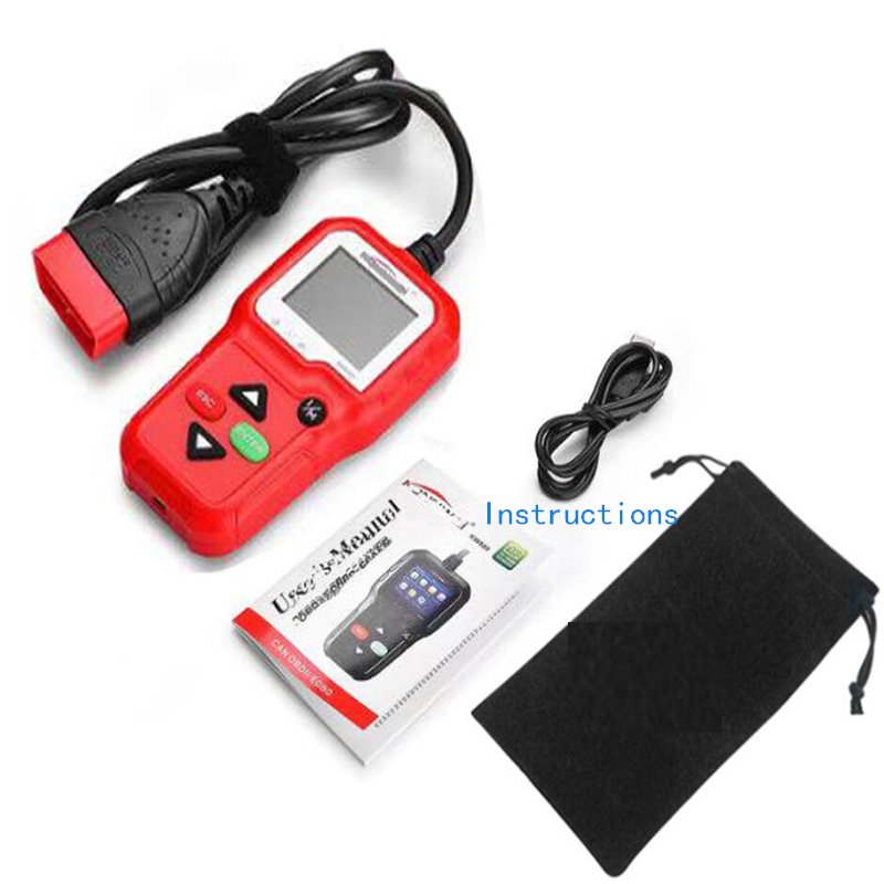 KW590 Car Scanner supports multi-language diagnostic trouble scanner tool new features auto parts