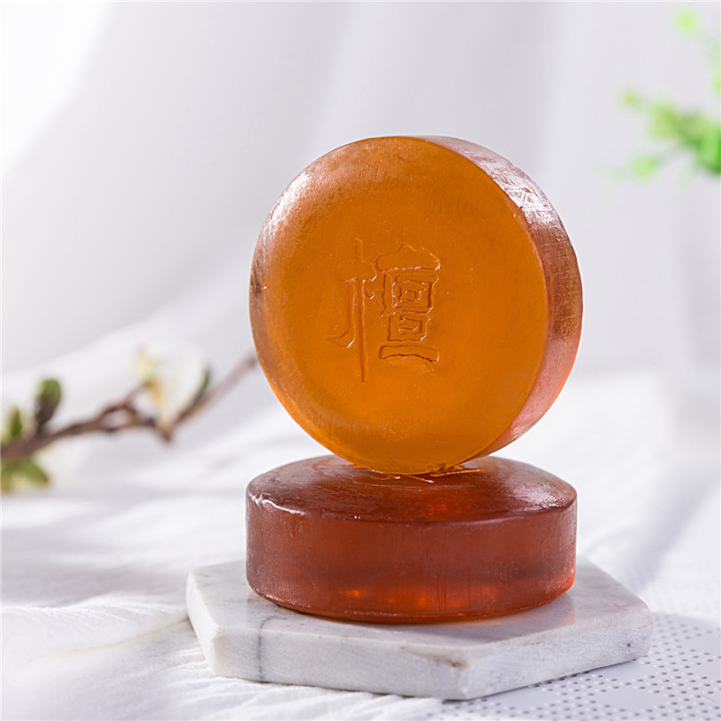 Natural Sandalwood Essential Oil Soap Effective Herb Promote Sleep Essential Oil Facial Oil Control Cleansing Soap FM88