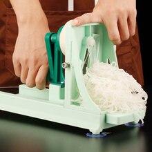 متعددة الوظائف قطاعة الخضراوات المطبخ دليل الفاكهة دوامة القطاعة أداة تقطيع الطعام مبشرة الخيار تقشير ماكينة قطع السكين