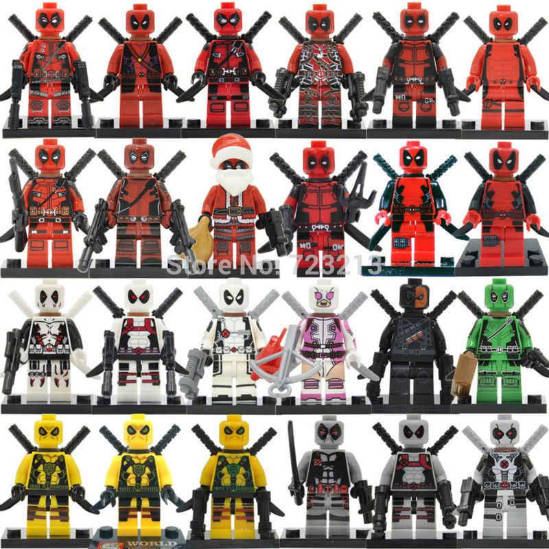 シングル販売デッドプールフィギュアマーベルヒーローグウェン-プールビルディングブロックレンガ子供の教育玩具