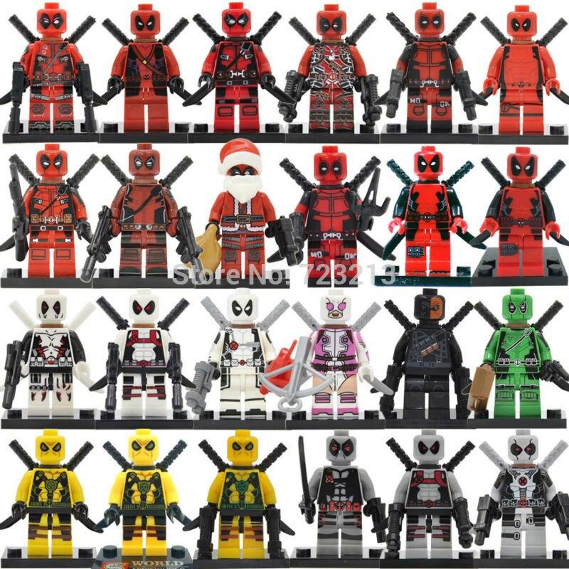 Single Sale Deadpool Figure Marvel Hero Gwen-Pool Building Blocks Sets Bricks Kids Educational Toys