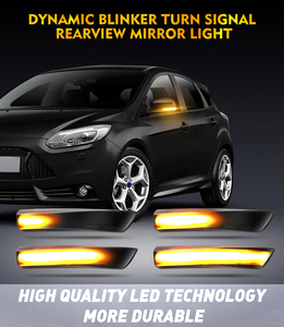 Image 5 - 2Pcs Dynamic LED Turn Signal Lights Rearview Mirror Indicator Blinker Repeater For Ford Focus 2 Mk2 3 Mk3 Mondeo 4 Mk4