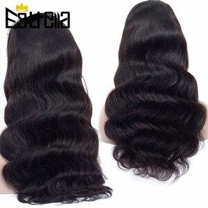 """Image 3 - Cuerpo peruano onda de encaje pelucas de cabello humano Remy 4x4 Peluca de cierre 8 """" 24"""" Color Natural Lace Closure pelucas de cabello humano 150% densidad"""