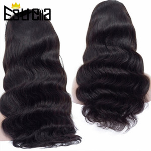 """Image 3 - Peruvian Body Wave Lace Human Hair Wigs Remy 4x4 Closure Wig 8"""" 24"""" Natural Color Lace Closure Human Hair Wigs 150% Density"""