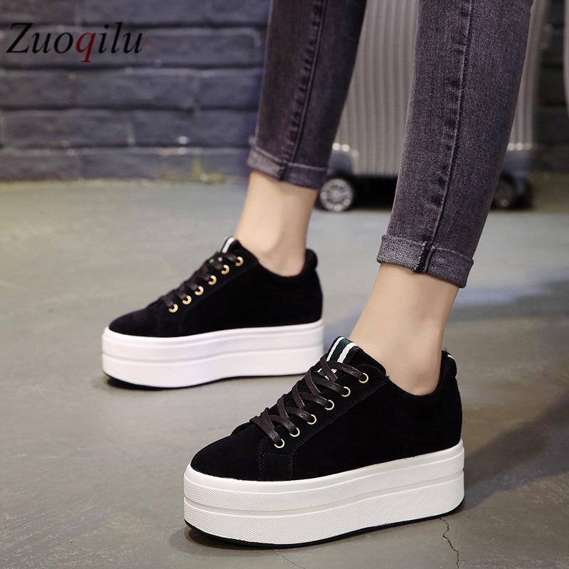 2019 Autumn Platform Shoes Ladies Creepers Platform Shoes Women Casual Shoes Trainers Women Ladies