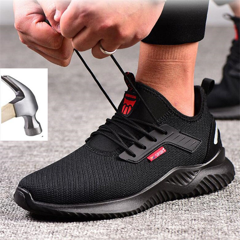 2020 Autumn Steel Toe Work Safety Shoes for Men Puncture Proof Security Boots Man Breathable Non slip Industrial Sneakers Male