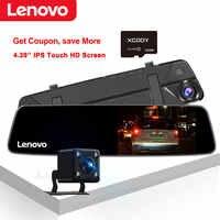 Oryginalne lusterko wsteczne Lenovo 4.3 ''z kamerą 16GB TF kamera na deskę rozdzielczą Full HD 1080P ekran dotykowy ips Night Vision Car wideorejestrator na deskę rozdzielczą