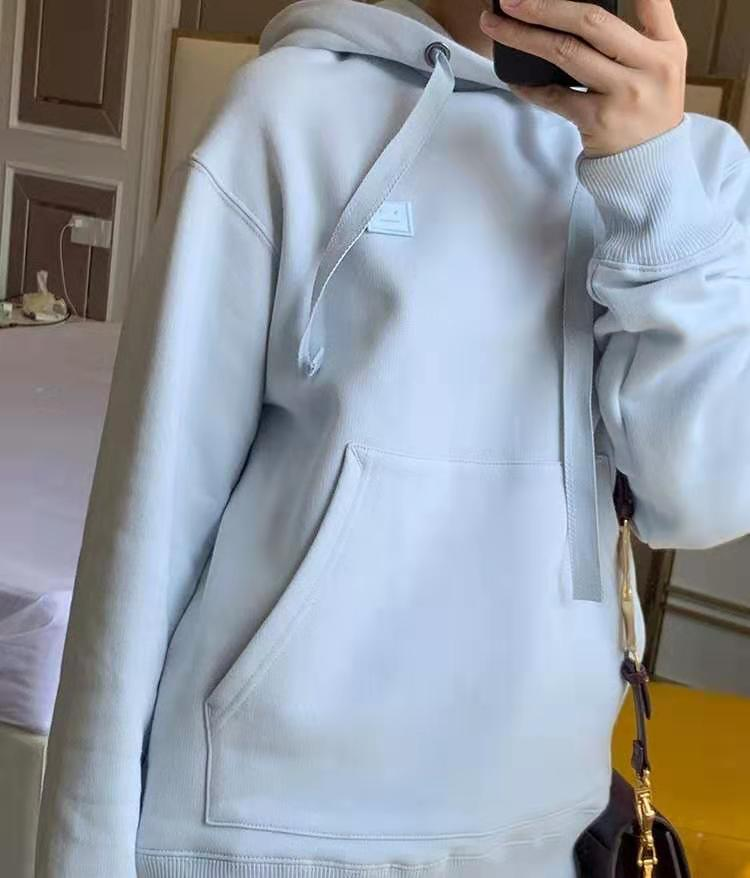 100% Cotton Women's Hoodie Casual Loose Hooded Pullover Add Velvet Long Sleeve Sweatshirt
