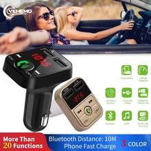 Автомобильный Bluetooth fm-передатчик беспроводной Handsfree светодиодный MP3-плеер USB зарядное устройство двойной USB 2.1A TF модулятор Быстрая зарядка