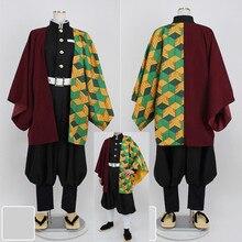 Убийца демона: Kimetsu No Yaiba Tomioka Giyuu кимоно униформа Косплей Костюм Хэллоуин костюм платье