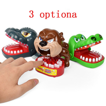 Funny Toy Crocodile Dog Monster King Bite Finger Game Fun Novelty Gag Toy Child Play Fun Family Teeth Joke цена 2017
