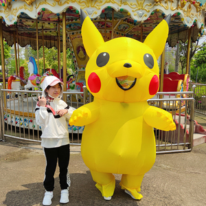 Image 3 - Yellow Inflatable Costume Anime Cosplay Mascot Carnival Fantasy Halloween Costumes for women Adult Kids