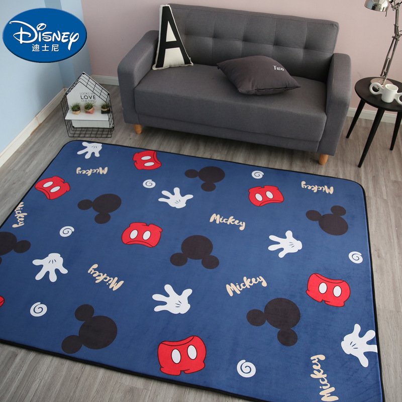 Disney Mickey Minnie Mouse Rug Child Baby Crawling Game Mat Carpet Indoor Welcome Soft Four Season Children Mat Blanket Gift