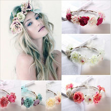 Flower Hairband Hawaii Beach Bachelorette Party Bride To Be Decor Garland Wedding Decoration Mariage Wreath Party Decoration