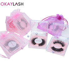 OKAYLASH Wholesale 3D 6D 8D Faux Mink Eyelashes Natural Long Cruelty Free Fluffy Wispy Lashes with Low Factory Price