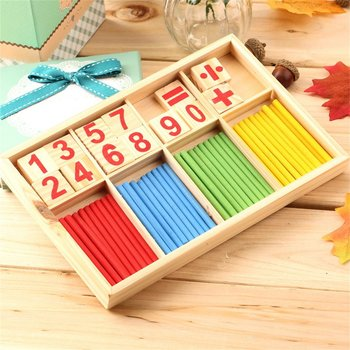 Baby Education Toys Wooden Counting Sticks Toys Montessori Math Baby Gift Wooden Box Early Education Inlightenment Toy New Hot flyingtown montessori teaching aids balance scale baby balance game early education wooden puzzle children toys