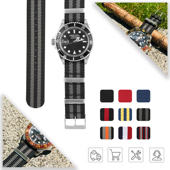 19mm 20mm 21mm 22mm Nato Sports Belts WatchBand Bracelet for Huawei Gt Gmt Submarine Strap Nylon Watchbands Colorful Watch Tools