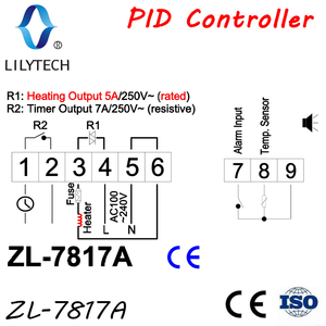 Image 2 - ZL 7817A, PID temperature controller, thermostat, with Integrated SSR, 100 240Vac power supply, CE, ISO, Lilytech