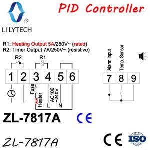 Image 2 - ZL 7817A, controlador de temperatura PID, termostato, con SSR integrado, fuente de alimentación 100 240Vac, CE, ISO, Lilytech