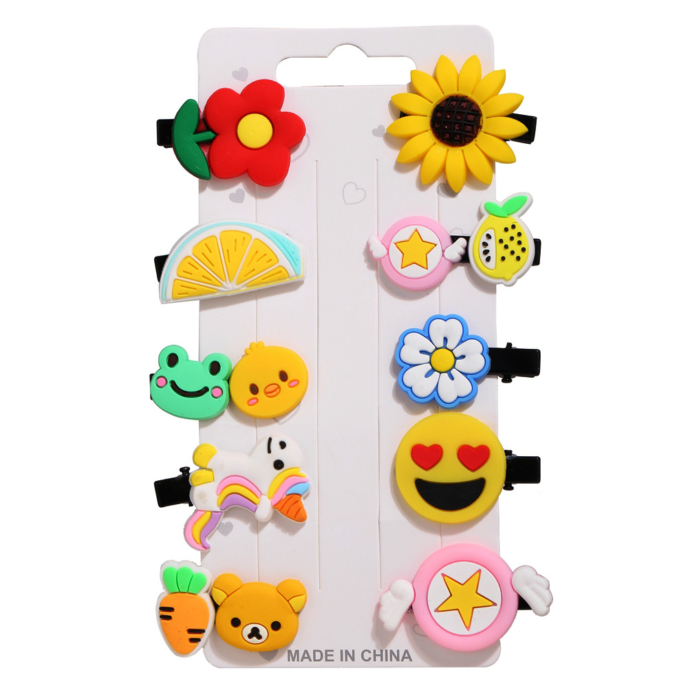 Todorova Baby Fruit Hair Clips for Girls Children Hairpins Hair Accessories Ice Cream Barrettes Cute Pet Kids Ribbon Clip Pins