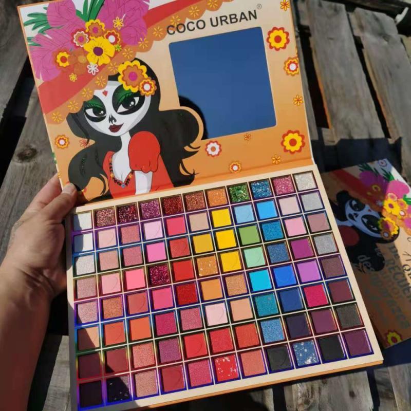 88 Colors Matte Glitter Eyeshadow Palette Makeup High gloss Colorful Glitter Pearlescent Matte Neon Eye Shadow
