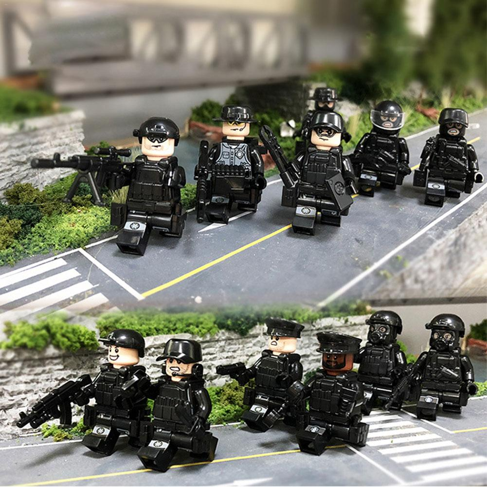 Puzzle War Army Legoings Building block Set Toys Union City Occupational Confederacy Rubber Boat Blocks Children Educational Toy