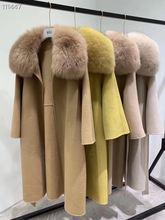 Женское зимнее пальто ihobby из 100% шерсти с большим воротником