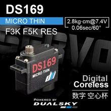 Dualsky ds169 9.0g, 2.8kg.cm@7.4V abas aileron servo 9g mini magro digital servo para f3k f5k