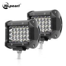 NLpearl 2x4 7 Cal Offroad LED do baru 12V 24V Spot Flood listwa świetlna LED do ciężarówki Atv 4x4 Baot ciągnik LED światło robocze światło przeciwmgielne samochodu