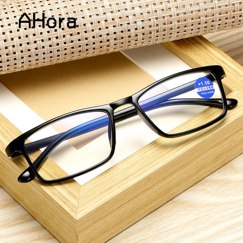 Ahora Anti Blue Light Blocking Reading Glasses Men Women TR90 Lightweight Presbyopia Eyeglasses Unisex +1.0 1.50 2.0 2.5 3 3.5 4