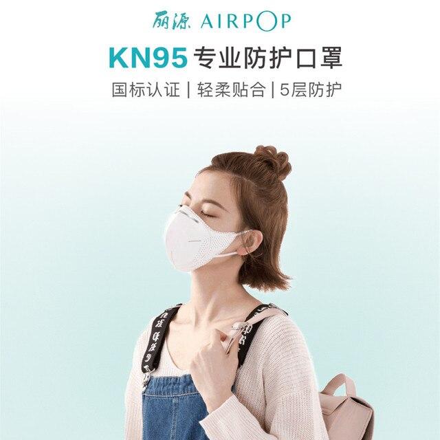 Xiaomi airpop Youpin KN95 Protective Face Mask 99% PM2.5 Anti-haze Comfortable Breatheable Mask Antivirus Flu Anti Infection 3