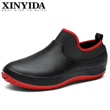 Unisex Non-slip Waterproof Garden Safety Shoes Slip On Elasticity Ankle Boots Ca