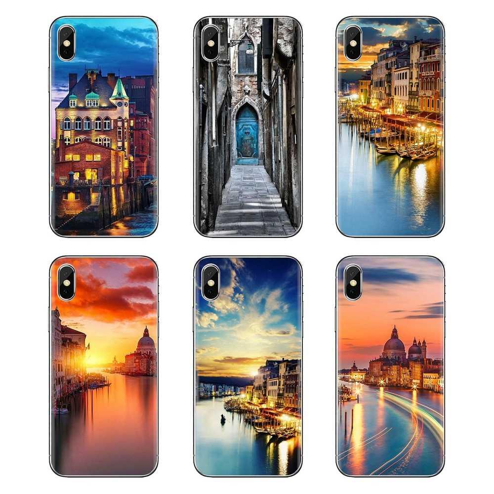 Водный город Венеция Италия закат печати для huawei G7 G8 P7 P8 P9 P10 P20 P30 Lite Mini Pro P Smart Plus 2017