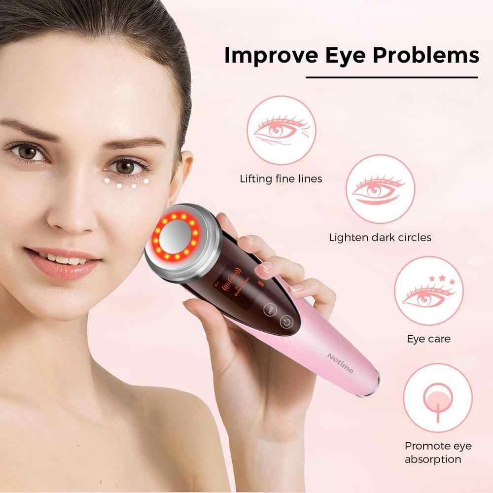Notime Sangat Pembersih Wajah Kulit Care Massager Ion Pembersihan & Infus Kecantikan Instrumen Ultrasound Ion Alat Universal