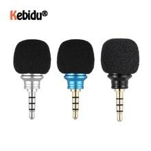 Портативный всенаправленный мини микрофон для смартфона с разъемом 3,5 мм, микрофон для мобильного телефона, для записи, для IPhone, Samsung, Huawei