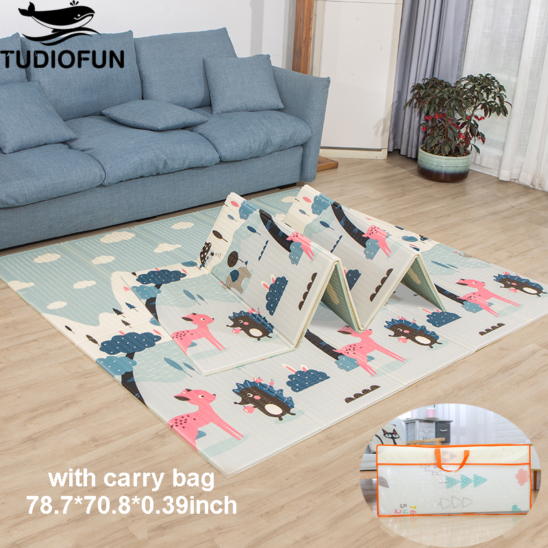 Tudiofun Educational Children's Carpet Foldable Cartoon Baby Play Mat Xpe Puzzle Mat Baby Climbing Pad Kids Rug Games Toys